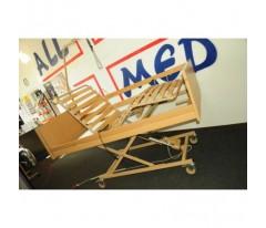 Łóżko medyczne Burmeier Westfalia z 2 materacami ( materac przeciwodlezynowy bąbelkowy + materac piankowy )