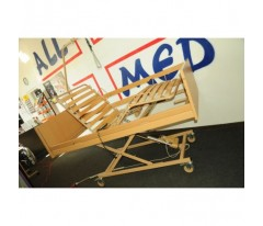 Łóżko ortopedyczne Burmeier Westfalia z materacem przeciwodleżynowym zmiennociśnieniowym rurowym i materacem piankowym 5cm.