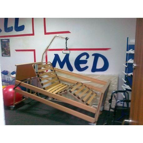 Łóżko rehabilitacyjne Burmeier Dali w zestawie z nowym materacem przeciwodleżynowym bąbelkowym i materacem piankowym 200x90x5cm