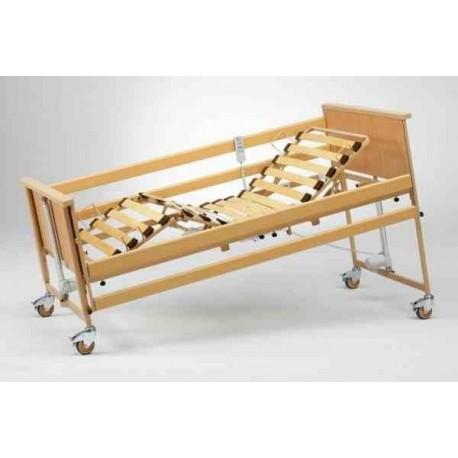 Łóżko rehabilitacyjne BURMEIER Dali z materacem przeciwodleżynowym bąbelkowym i materacem piankowym