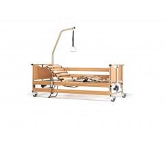 Łóżko rehabilitacyjne elektryczne VERMEIREN LUNA BASIC z materacem gofrowym w pokrowcu nieprzamakalnym.