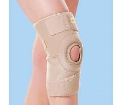 Neoprenowy zapinany stabilizator stawu kolanowego z osłoną rzepki