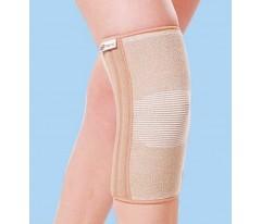 Tkaninowa wciągana orteza stawu kolanowego ze wzmocnieniami
