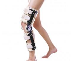 Orteza stawu kolanowego szynowo-opaskowa z zegarami, z regulowaną długością